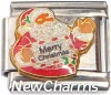CT9769 Merry Christmas Santa Italian Charm