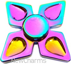 Rainbow Quad Metal Fidget Spinner