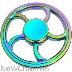Rainbow Wheel Metal Fidget Spinner
