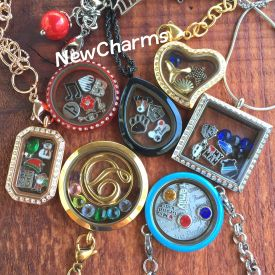 Floating Locket Charms - Alloy and Stainless Steel Lockets