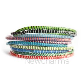 Fair Trade Recycled Flip Flop Bracelets Mali West Africa