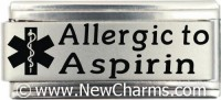Allergic To Asprin Medical Alert Italian Charm
