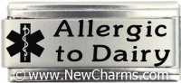 Allergic To Dairy Medical Alert Italian Charm