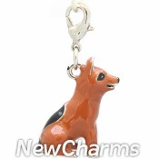 CH500 Brown and Black Dog Dangle