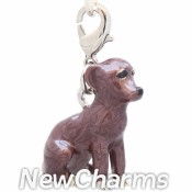CH505 Little Brown Dog Dangle