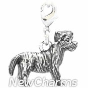 CH516 Silver Terrier Dog Dangle