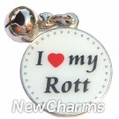 JR101 I Love My Rottweiller ORing Charm