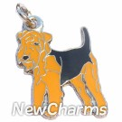 JR102 Airedale Terrier O-Ring Charm