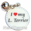 JR103 I Love My Lakeland Terrier ORing Charm