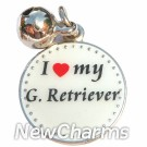 JR111 I Love My Golden Retreiver ORing Charm
