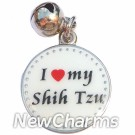 JR113 I Love My Shih Tzu ORing Charm