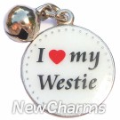 JR115 I Love My Westie ORing Charm