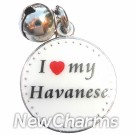 JR149 I Love My Havanese ORing Charm