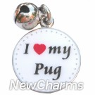 JR151 I Love My Pug ORing Charm