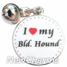 JR159 I Love My Blood Hound ORing Charm