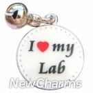 JR161 I Love My Lab ORing Charm