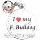 JR165 I Love My French Bulldog ORing Charm