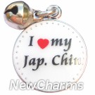 JR167 I Love My Japanese Chin ORing Charm