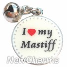 JR177 I Love My Mastiff ORing Charm