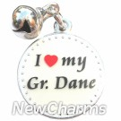 JR181 I Love My Great Dane ORing Charm