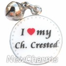 JR187 I Love My Chinese Crested ORing Charm