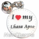 JR191 I Love My Lhasa Apso ORing Charm