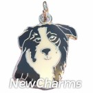 JR192 Border Collie Head ORing Charm