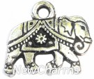 JT105 Silver Elephant ORing Charm