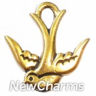 JT118 Gold Sparrow ORing Charm
