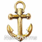 JT121 Gold Anchor ORing Charm