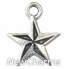 JT122 Silver Nautical Star ORing Charm