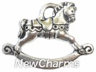 JT129 Silver Rocking Horse ORing Charm