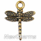JT131 Gold Dragonfly ORing Charm