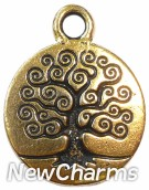 JT141 Gold Tree Of Life ORing Charm