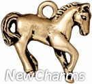 JT152 Gold Horse O-Ring Charm