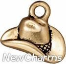 JT154 Gold Cowboy Hat O-Ring Charm