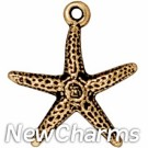JT170 Gold Seastar O-Ring Charm