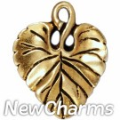 JT172 Gold Leaf O-Ring Charm