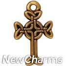 JT176 Gold Celtic Cross O-Ring Charm