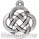 JT179 O-Ring Dangle Silver Open Celtic Knot