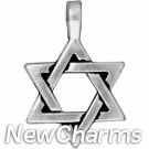 JT186 Silver Star Of David O-Ring Charm
