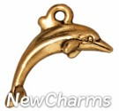 JT196 Gold Dolphin O-Ring Charm