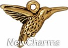 JT200 Gold Hummingbird O-Ring Charm