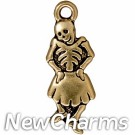 JT218 Gold Dancing Senorita O-Ring Charm