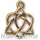 JT226 Gold Celtic Open Heart O-Ring Charm