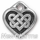 JT227 Silver Celtic Heart O-Ring Charm