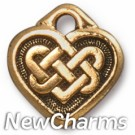 JT228 Gold Celtic Heart O-Ring Charm