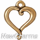 JT230 Gold Jubilee Open Heart O-Ring Charm
