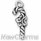 JT235 Silver Candy Cane O-Ring Charm