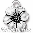 JT236 Silver Apple Blossom O-Ring Charm